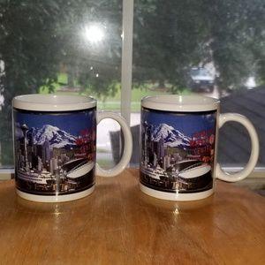 Seattle Skyline coffee mug Set of 2